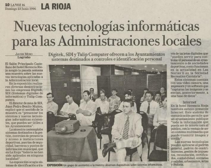 Nuevas tecnologias informáticas para las Administraciones locales