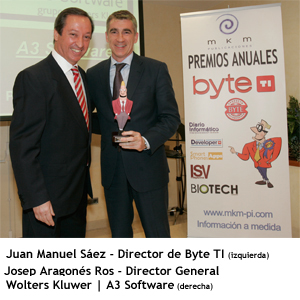 Juan Manuel Saez - director byte ti y Josep Aragones - Director Wolters Kluwer Tax & Accounting