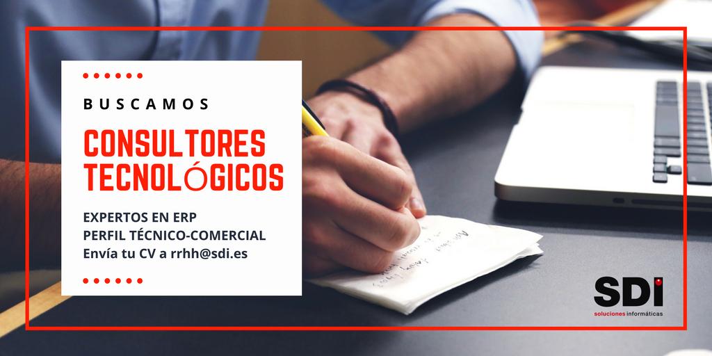En SDI buscamos consultores tecnológicos expertos en ERP con perfil técnico-comercial para La Rioja.