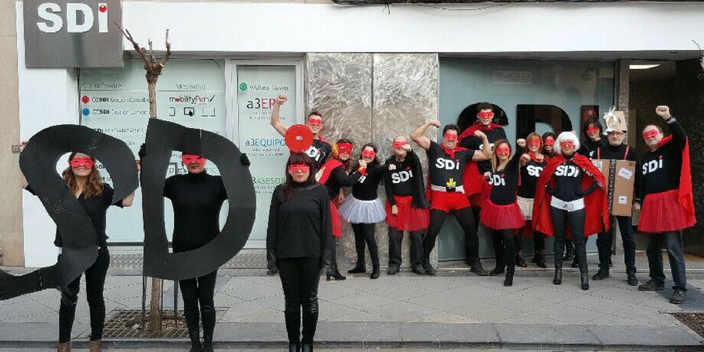 Carnaval en las oficinas SDi de Calahorra