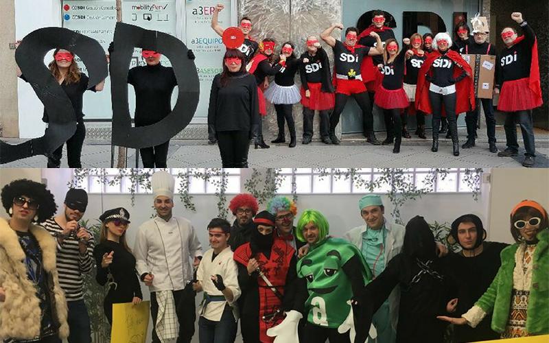 Carnaval en las oficinas de SDi