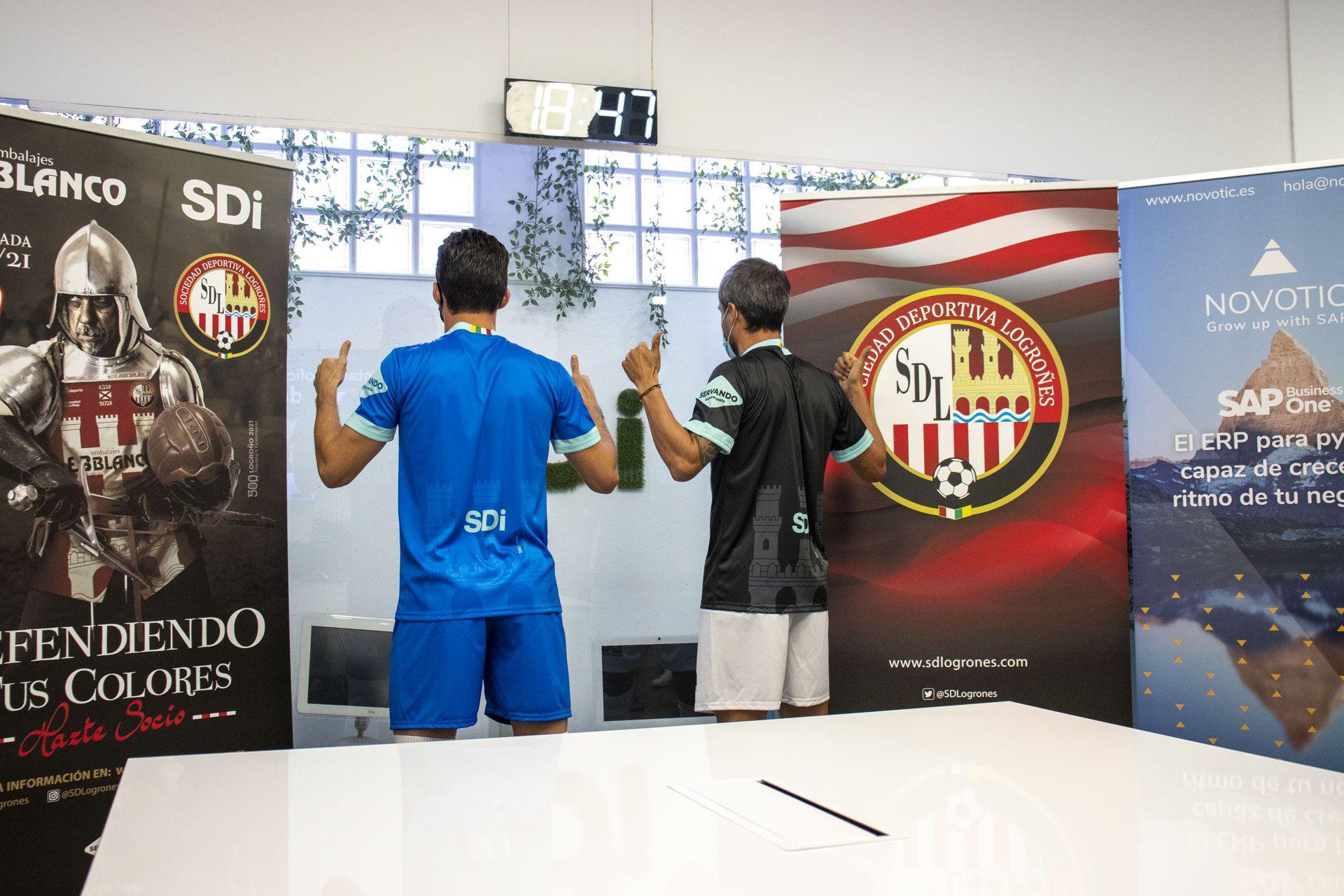 La SDL presenta su equipación oficial en las oficinas de SDi en Logroño 2