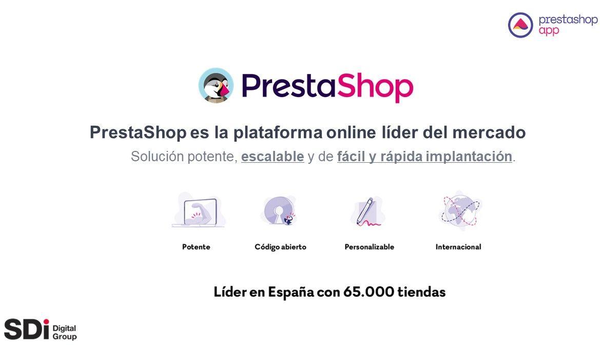 Prestashop es la plataforma online lider del mercado